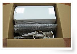 康潔搬家 家電的包裝照片